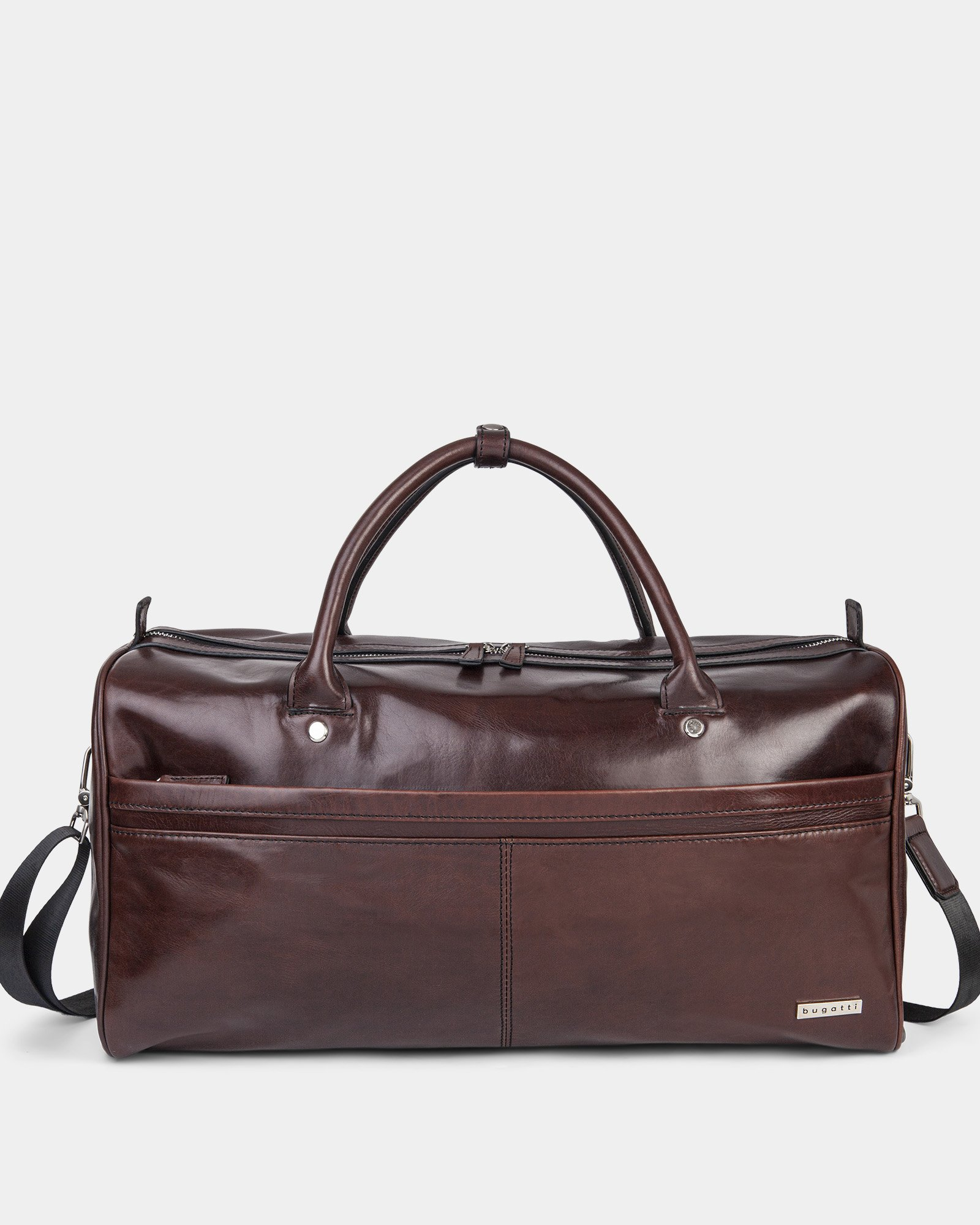PORTO - WAXED LEATHER DUFFLE BAG WITH PADDED SLEEVE section - BROWN - Bugatti - Zoom