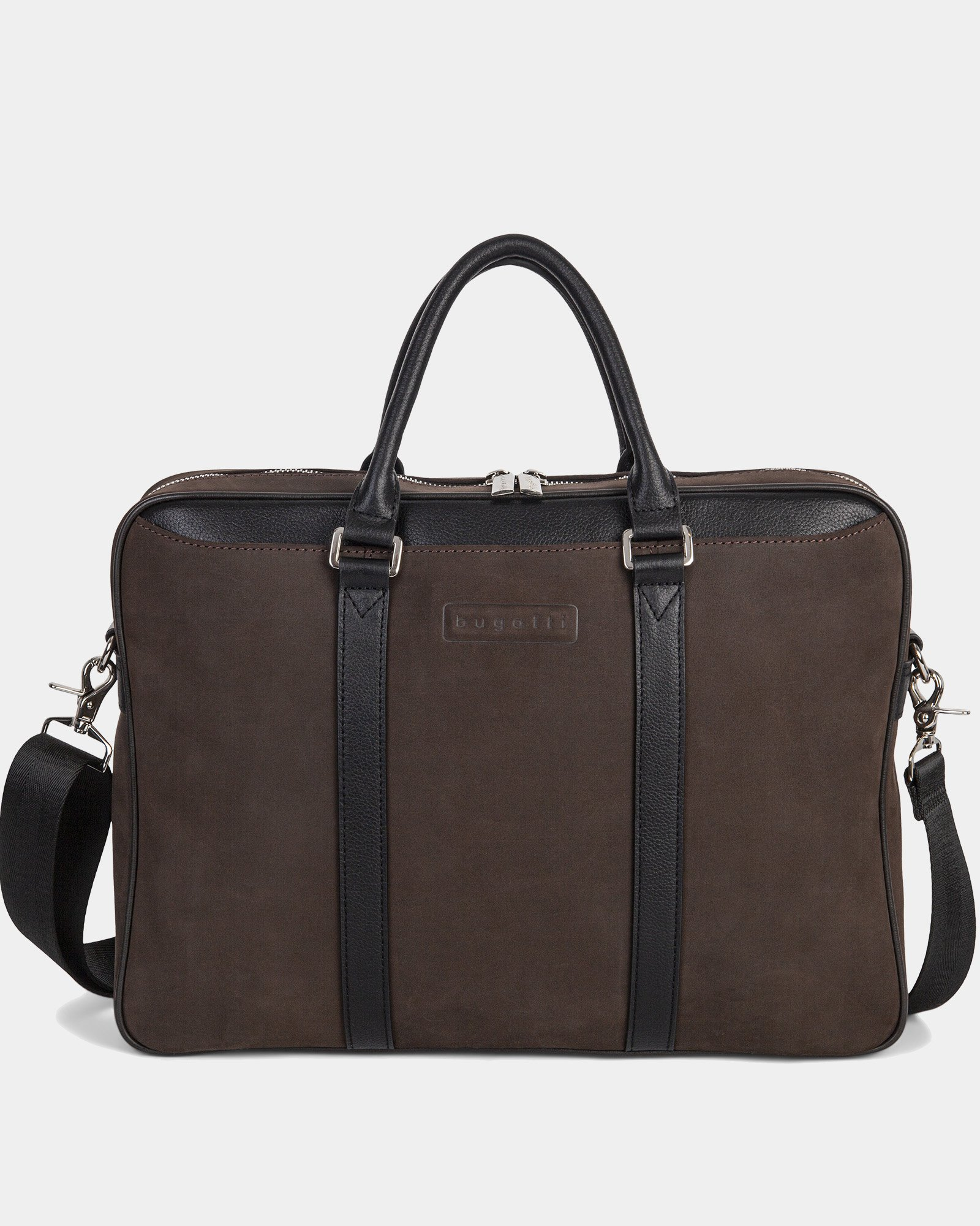 BALANCE - BRIEFCASE FOR 14 IN LAPTOP with Adjustable and removable strap - BROWN  - Bugatti - Zoom