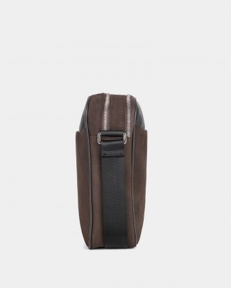 BALANCE - CROSSBODY BAG with Adjustable shoulder strap - BROWN  - Bugatti
