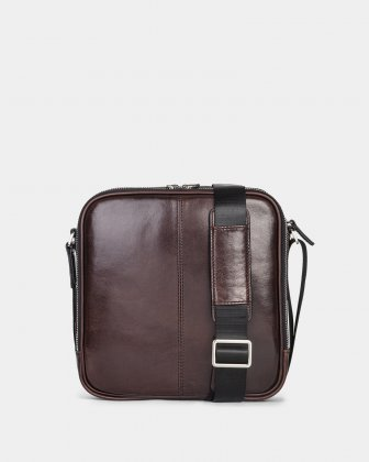 "PORTO - WAXED LEATHER CROSSBODY FOR 10"" TABLET - BROWN - Bugatti"
