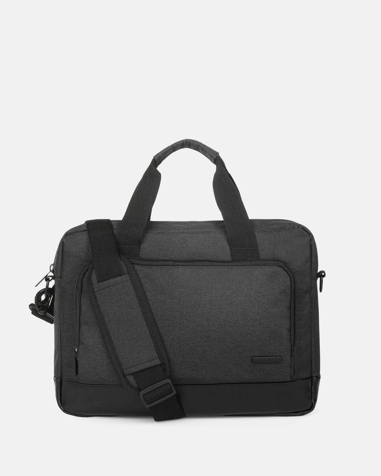 """TRAVELLER - Briefcase FOR 14"""" LAPTOP with Removable & comfortable shoulder strap - CHARCOAL - Bugatti - Zoom"""