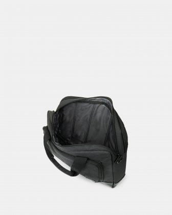 """TRAVELLER - Briefcase FOR 14"""" LAPTOP with Removable & comfortable shoulder strap - CHARCOAL - Bugatti"""