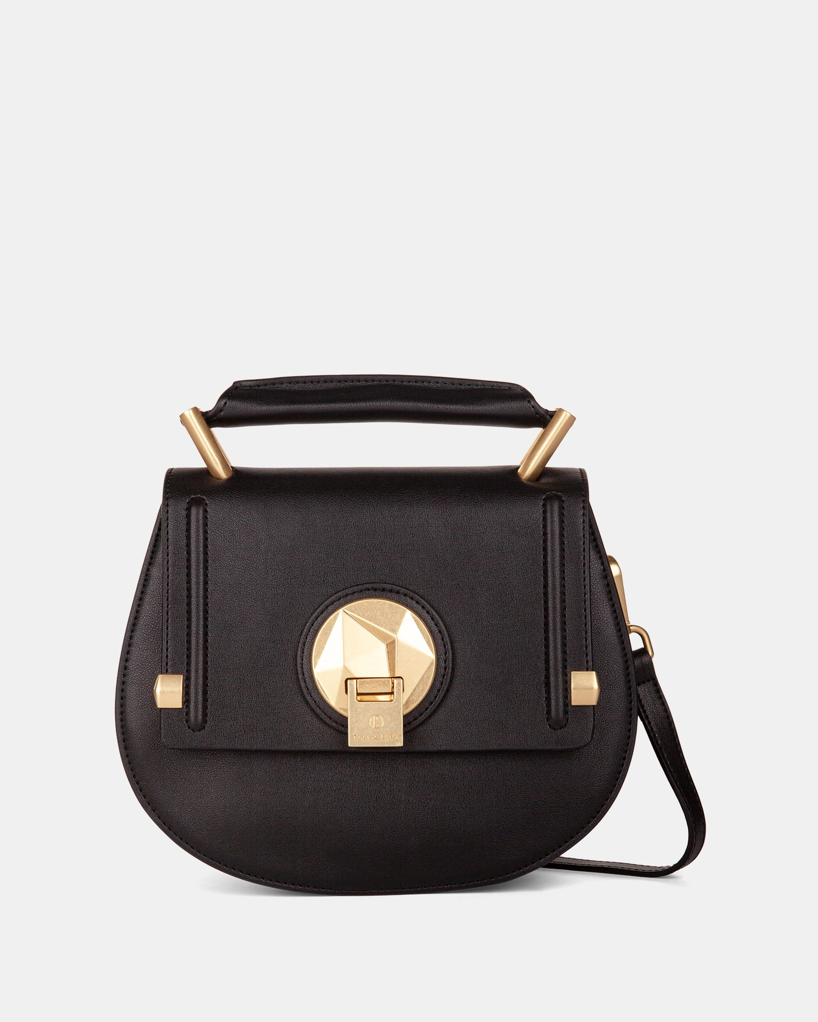 OCTAVE - LEATHER HANDLE BAG with Removable and adjustable strap - BLACK - Céline Dion - Zoom