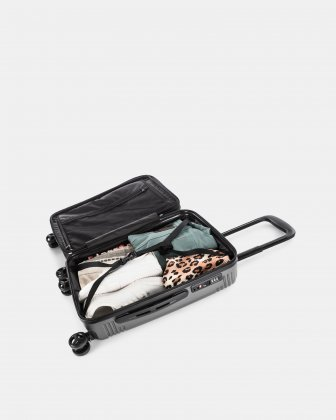 NASHVILLE - HARDSIDE CARRY-ON in 100% recycled plastic with TSA lock - Charcoal - Bugatti