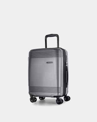 Bugatti NASHVILLE - HARDSIDE CARRY-ON in 100% recycled plastic with TSA lock - Charcoal