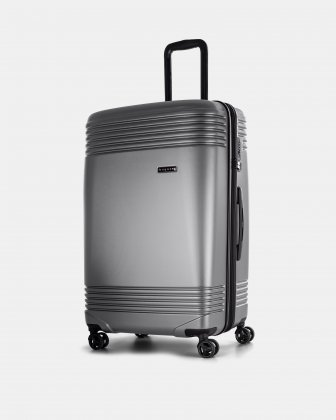 "NASHVILLE - 30"" HARDSIDE LUGGAGE in 100% recycled plastic with TSA lock - Charcoal Bugatti"