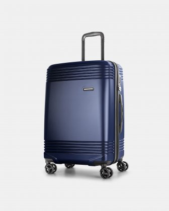 "NASHVILLE - 25.75"" HARDSIDE LUGGAGE in 100% recycled plastic with TSA lock - navy Bugatti"