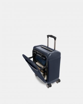 "WASHINGTON - 18"" HYBRID HARDSIDE/SOFTSIDE UNDERSEATHER with TSA lock - Navy Bugatti"