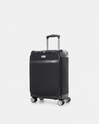 "WASHINGTON -  21.5"" HYBRID CARRY-ON HARDSIDE/SOFTSIDE with tsa lock- Black - Bugatti"
