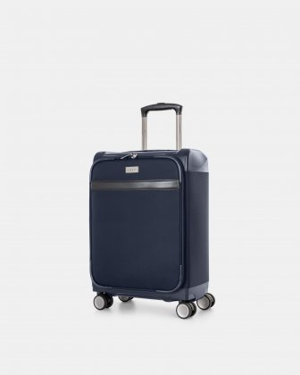 "WASHINGTON -  21.5"" HYBRID CARRY-ON HARDSIDE/SOFTSIDE with tsa lock- Navy Bugatti"