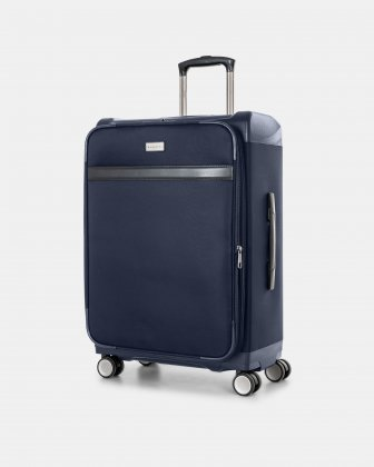 "WASHINGTON -  25"" HYBRID CARRY-ON HARDSIDE/SOFTSIDE with tsa lock- Navy Bugatti"