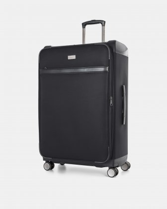 "WASHINGTON -  29"" HYBRID CARRY-ON HARDSIDE/SOFTSIDE with tsa lock- Black Bugatti"