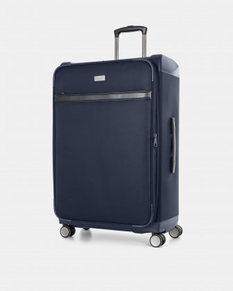 "WASHINGTON -  29"" HYBRID CARRY-ON HARDSIDE/SOFTSIDE - NAVY Bugatti"