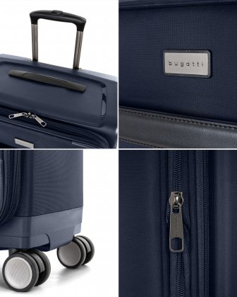 "WASHINGTON -  29"" HYBRID CARRY-ON HARDSIDE/SOFTSIDE with tsa lock - NAVY - Bugatti"