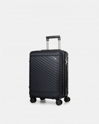"MOSCOW -  20.75"" HARDSIDE CARRY-ON 100% POLYCARBONATE WITH TSA LOCK - NAVY Bugatti"