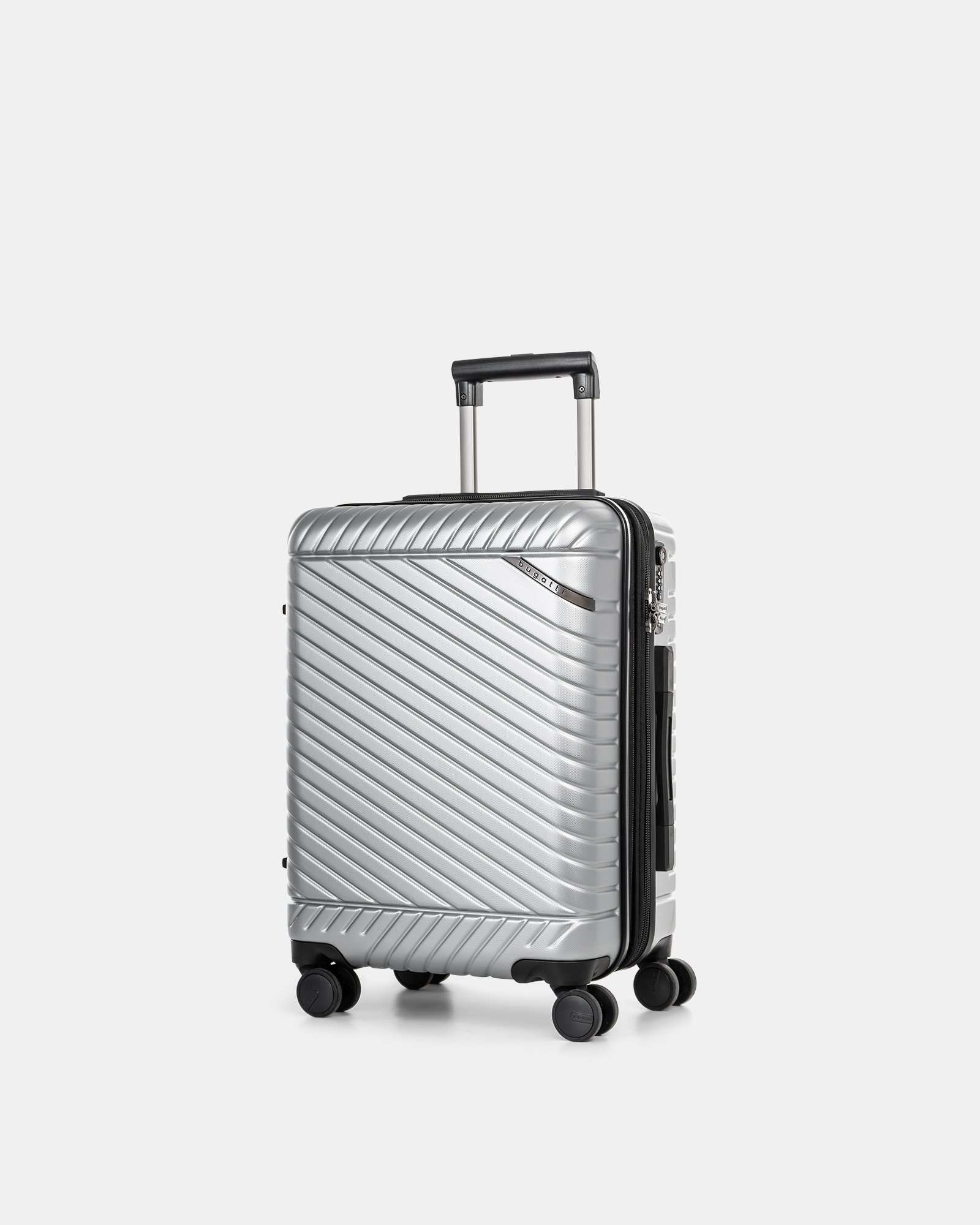 """MOSCOW -  20.75"""" HARDSIDE CARRY-ON 100% POLYCARBONATE WITH TSA LOCK - SILVER - Bugatti - Zoom"""