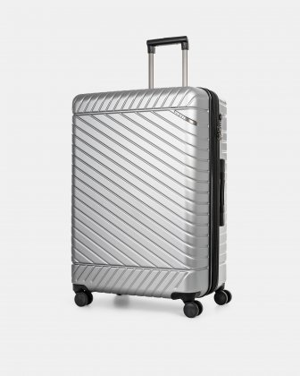 "MOSCOW -  30"" HARDSIDE CARRY-ON 100% POLYCARBONATE WITH TSA LOCK - SILVER Bugatti"