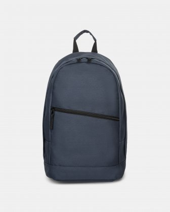 BONDSTREET - BACKPACK WITH DIAGONAL ZIPPER - navy Bondstreet