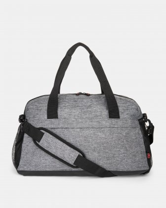 Eclipse - duffle bag with side mesh pockets - Grey Bondstreet
