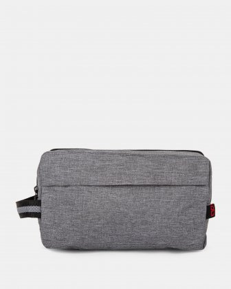 BONDSTREET - LARGE PENCIL/CABLE CASE WITH SIDE HANDLE - grey Bondstreet