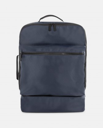 "Traveller - 15.6"" laptop Backpack with insulated zippered pocket - navy Bugatti"