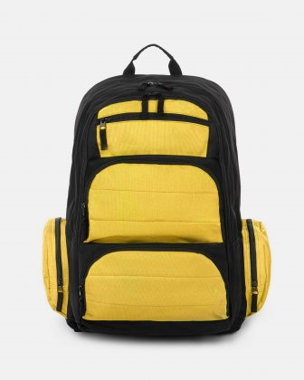BONDSTREET - BACKPACK WITH 6 COMPARTMENTS - YELLOW/MULTI Bondstreet