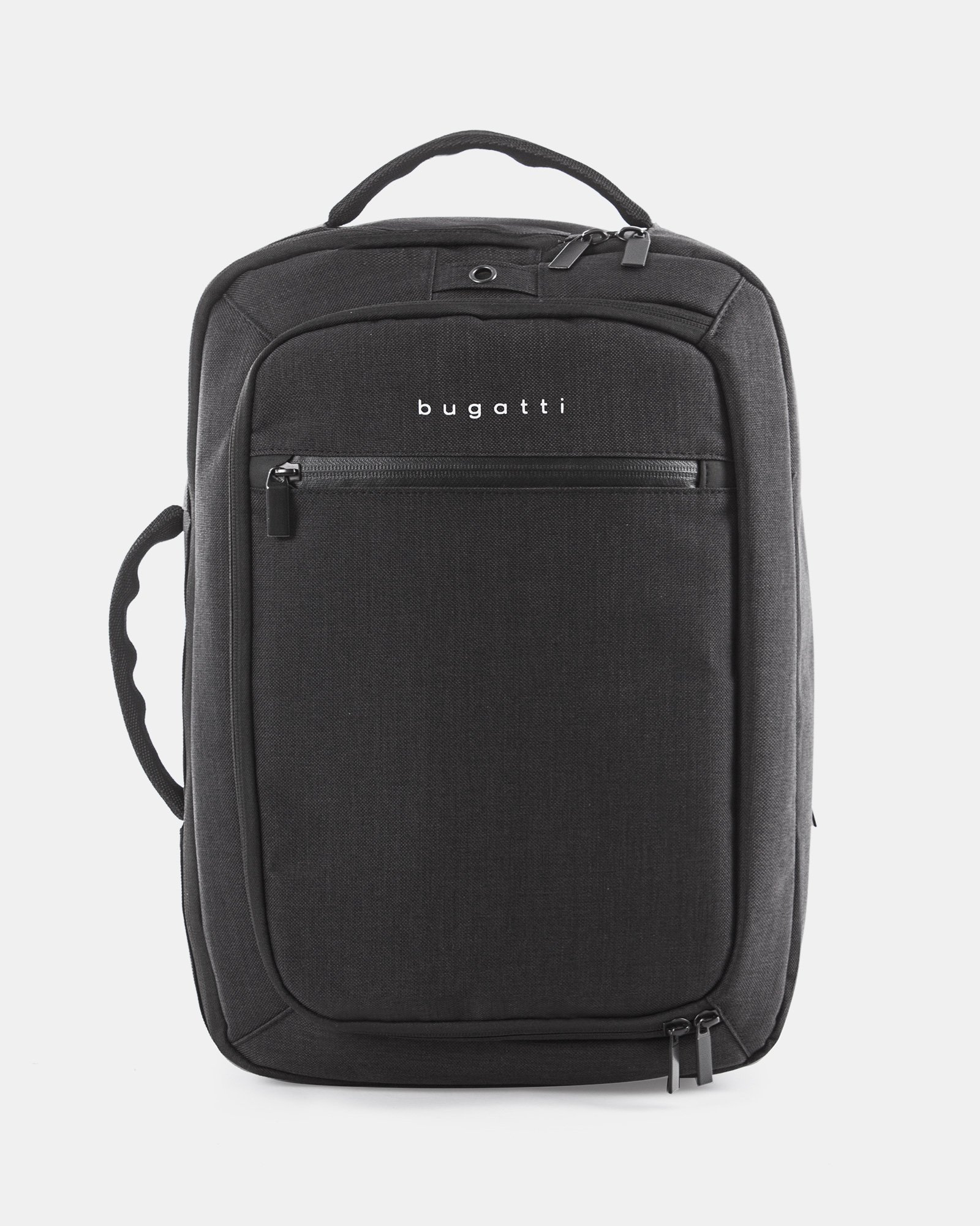 """Traveller - CONVERTIBLE BACKPACK/briefcase for 15.6"""" laptop with Back compartment - Charcoal   - Bugatti - Zoom"""