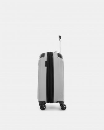"""PVG - 21.5"""" LIGHTWEIGHT HARDSIDE CARRY-ON - SILVER - Swiss Mobility"""