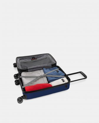 "LAX - 21.5"" HARDSIDE CARRY-ON WITH integrated USB port - BLUE Swiss Mobility"