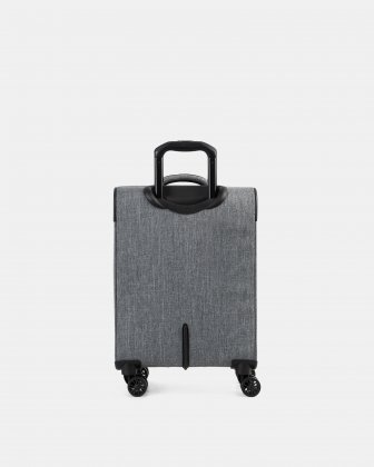"""YYZ - 21.5"""" SOFTSIDE CARRY-ON WITH Double 360-degree spinner wheels - CHARCOAL - Swiss Mobility"""