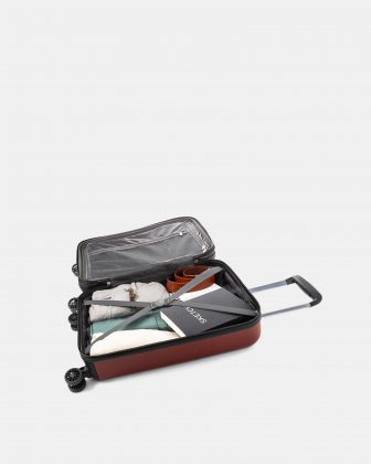 "MILANO - 21.5"" LIGHTWEIGHT CARRY-ON HARDSIDE WITH TSA LOCK - GARNET RED Bugatti"