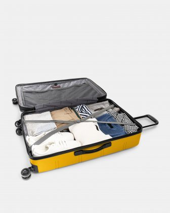 "LAX - 30"" LIGHTWEIGHT HARDSIDE LUGGAGE - YELLOW Swiss Mobility"