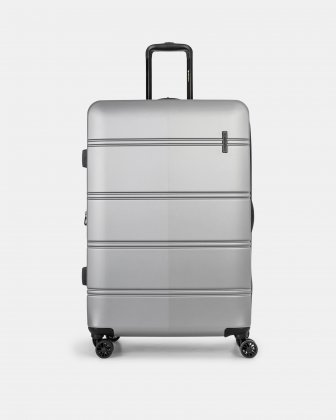 """LAX - 30"""" LIGHTWEIGHT HARDSIDE LUGGAGE - Silver - Swiss Mobility"""