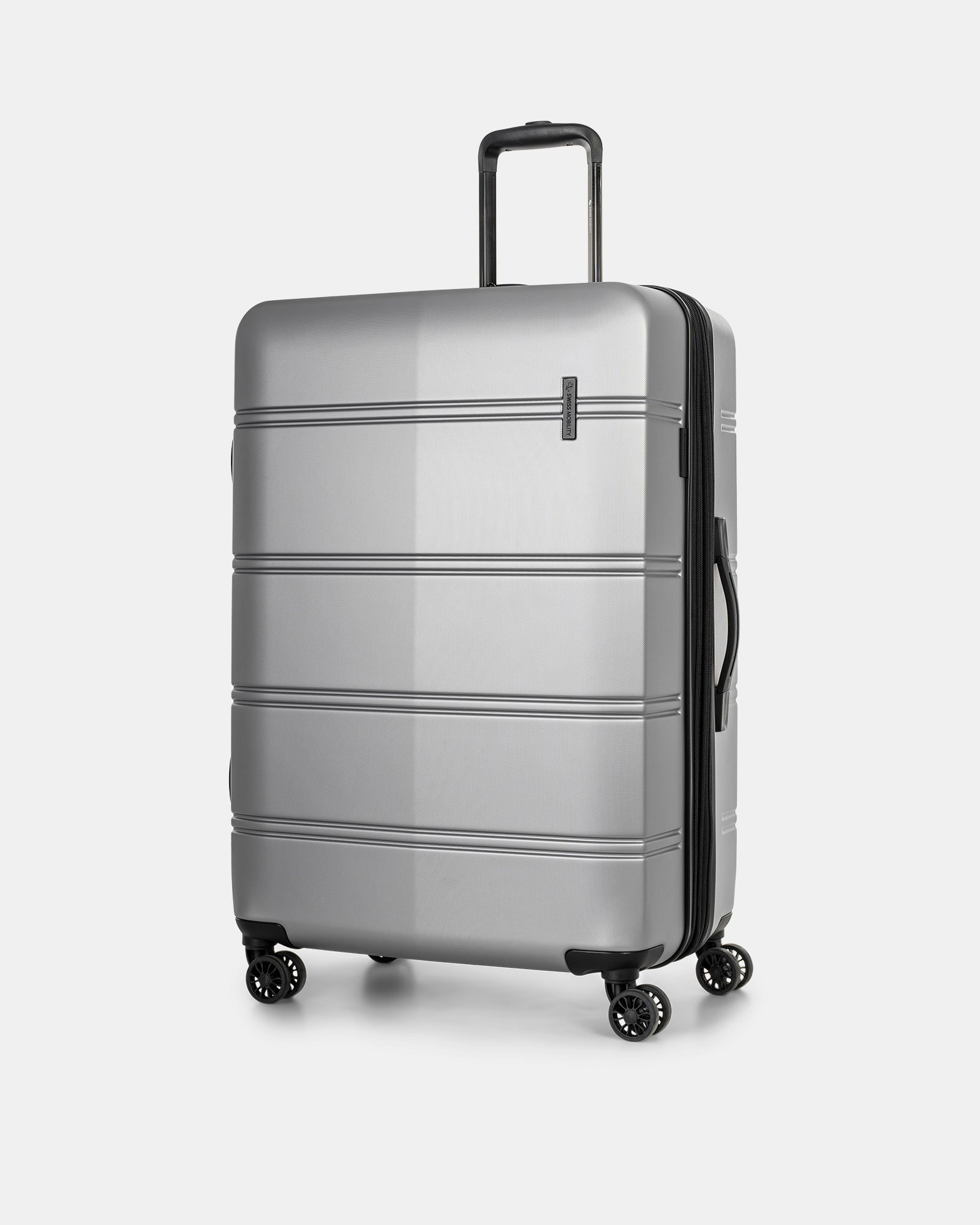 """LAX - 30"""" LIGHTWEIGHT HARDSIDE LUGGAGE - Silver - Swiss Mobility - Zoom"""