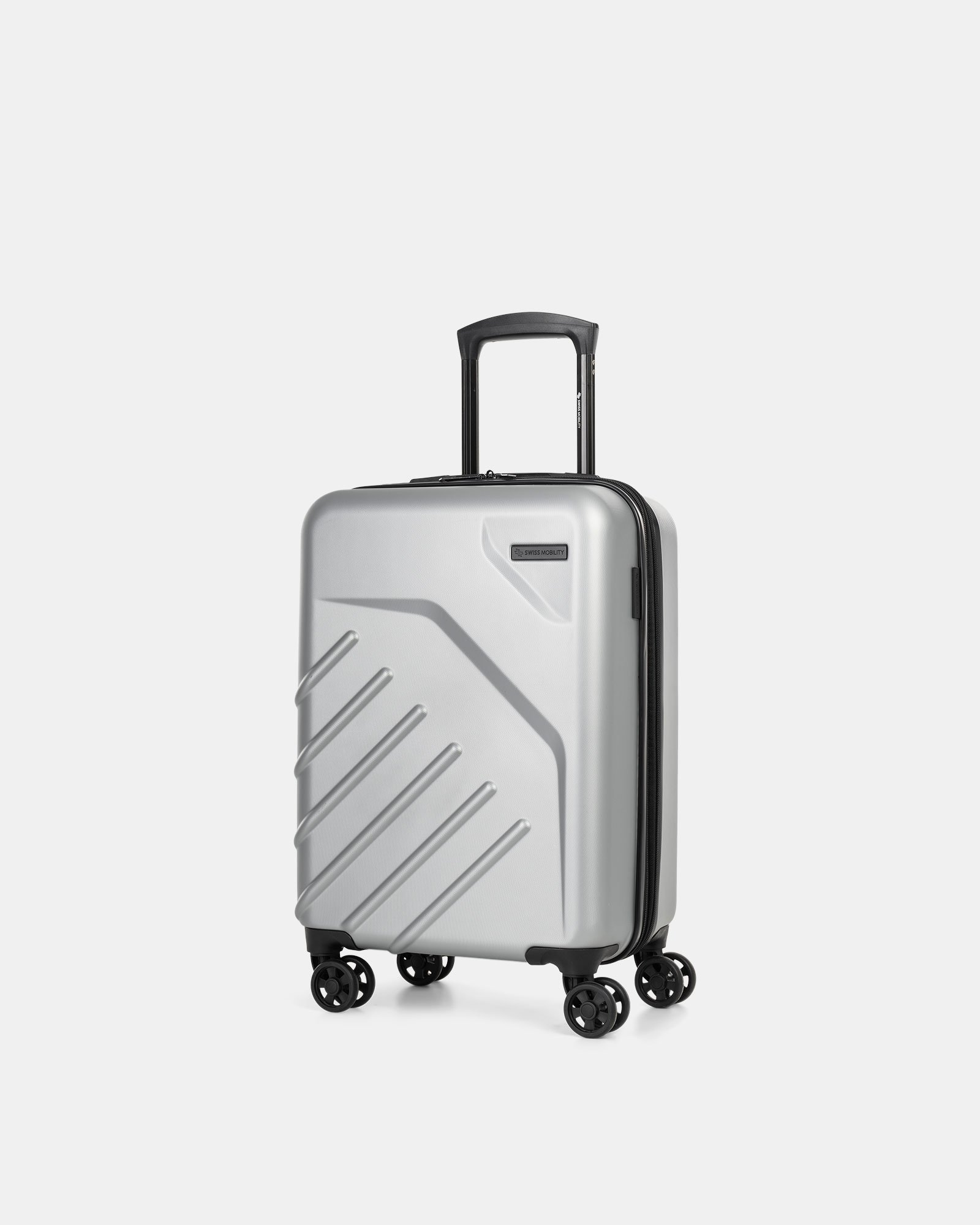 "LGA - 21.5"" LIGHTWEIGHT HARDSIDE CARRY-ON - SILVER - Swiss Mobility - Zoom"
