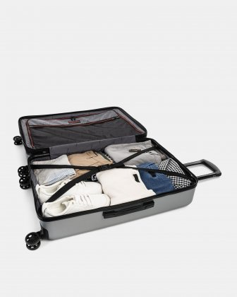 "LGA - 30"" LIGHTWEIGHT HARDSIDE LUGGAGE -SILVER Swiss Mobility"