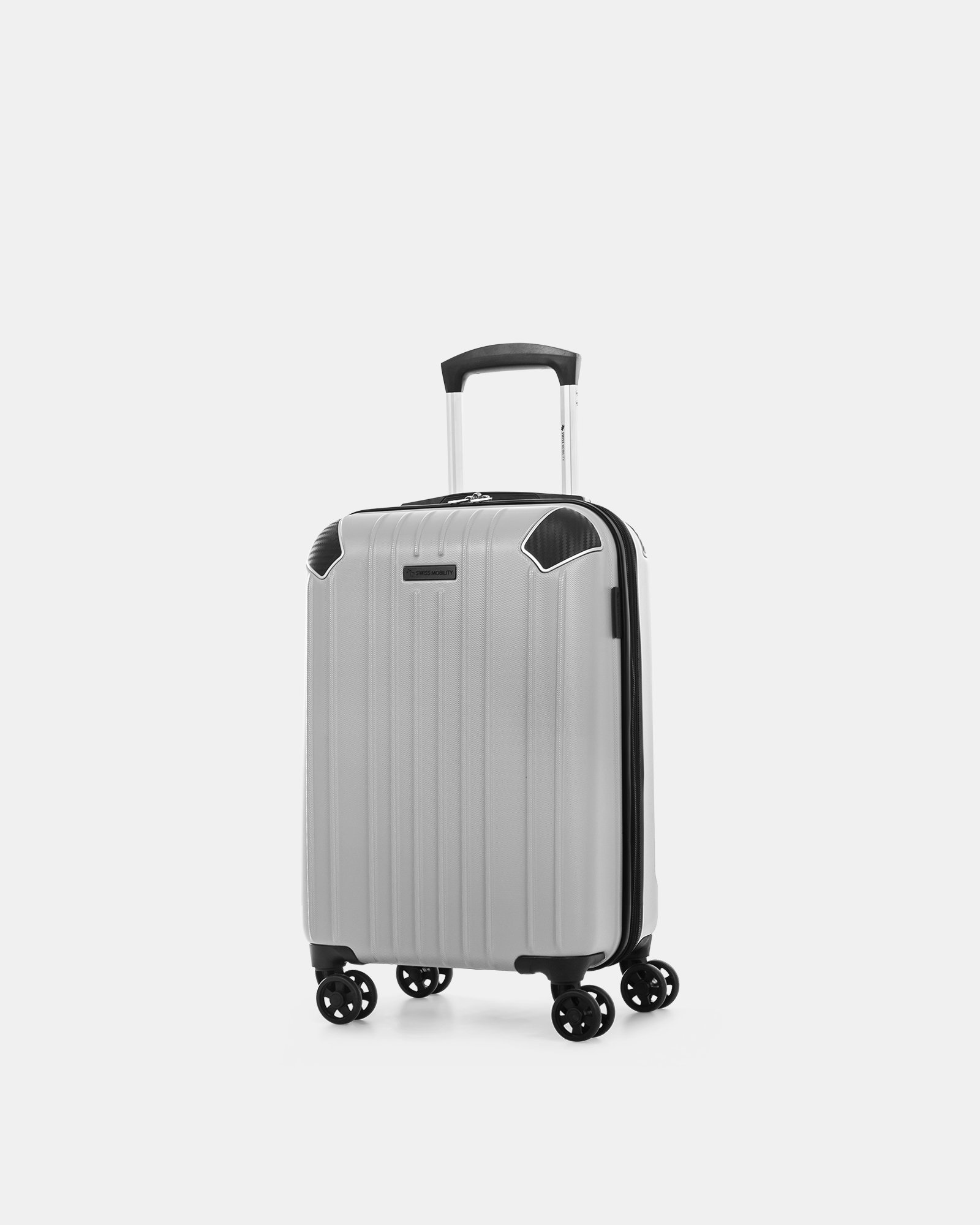"""PVG - 21.5"""" LIGHTWEIGHT HARDSIDE CARRY-ON - SILVER - Swiss Mobility - Zoom"""