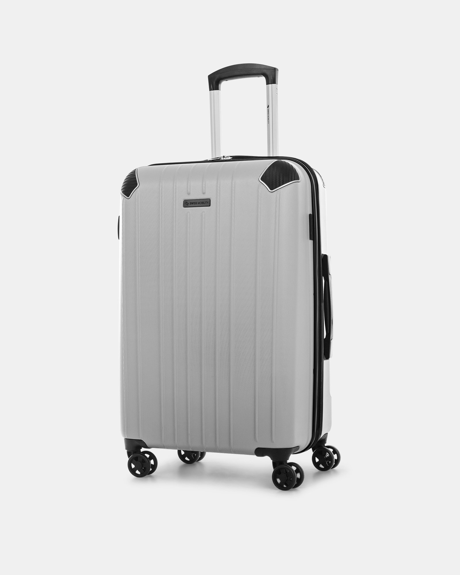 "PVG - 26"" LIGHTWEIGHT HARDSIDE LUGGAGE - SILVER - Swiss Mobility - Zoom"