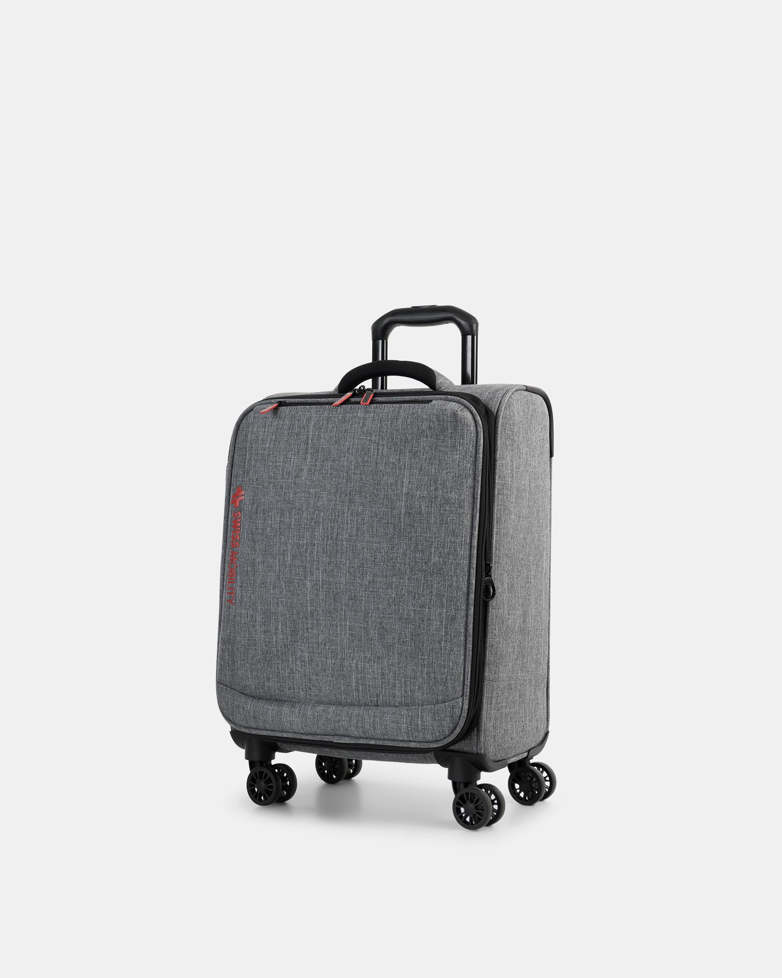 """YYZ - 21.5"""" SOFTSIDE CARRY-ON WITH Double 360-degree spinner wheels - CHARCOAL - Swiss Mobility - Zoom"""