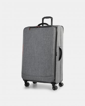 "YYZ - 30"" SOFTSIDE LUGGAGE WITH Double 360-degree spinner wheels - CHARCOAL Swiss Mobility"