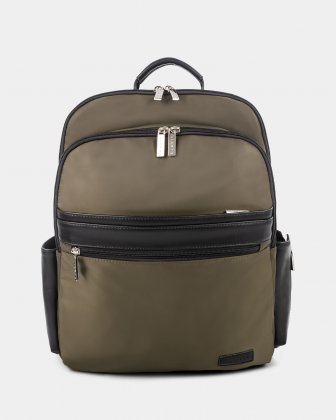 "Moretti - Backpack with Padded laptop compartment for 15.6"" + RFID protection - Khaki Bugatti"
