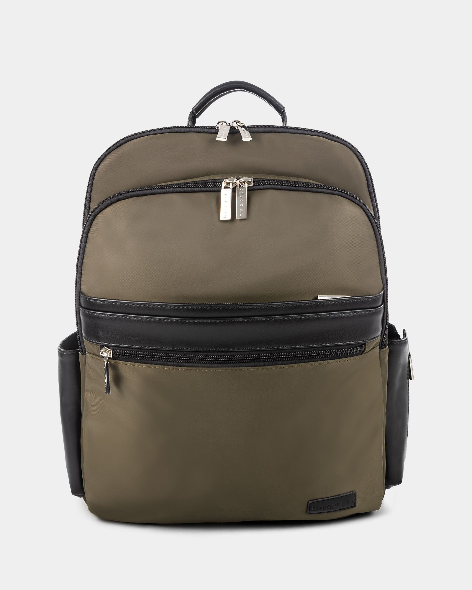 "Moretti - Backpack with Padded laptop compartment for 15.6"" + RFID protection - Khaki - Bugatti - Zoom"