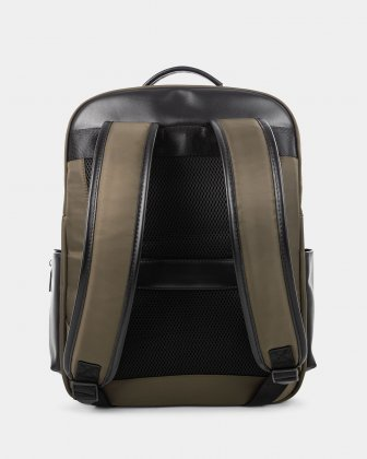 "Moretti - Backpack with Padded laptop compartment for 15.6"" + RFID protection - Khaki - Bugatti"