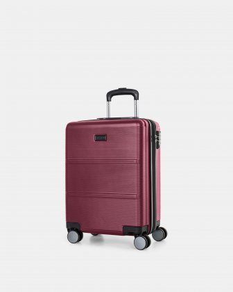 "BRUSSELS - 21.5"" HARDSIDE CARRY-ON WITH TSA LOCK - ROOTED RED Bugatti"