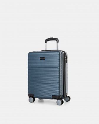 "BRUSSELS - 21.5"" HARDSIDE CARRY-ON WITH TSA LOCK - STEEL BLUE Bugatti"