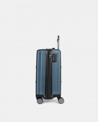 "BRUSSELS - 21.5"" HARDSIDE CARRY-ON WITH TSA LOCK - STEEL BLUE - Bugatti"