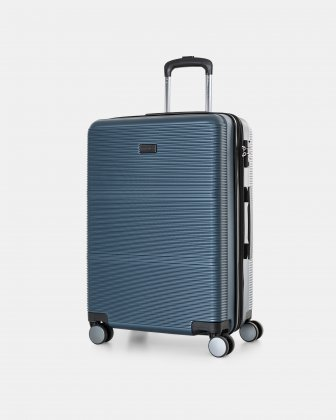 "BRUSSELS - 25"" lightweight HARDSIDE WITH TSA LOCK - STEEL BLUE Bugatti"