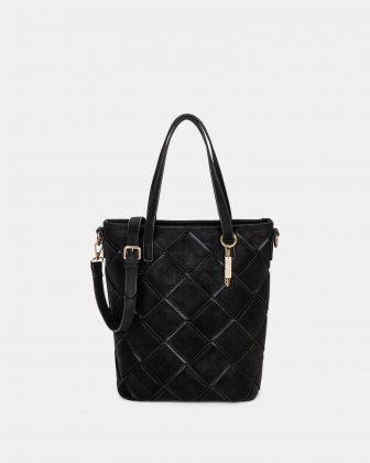 In Between - Tote bag with Adjustable crossbody strap - Black Joanel