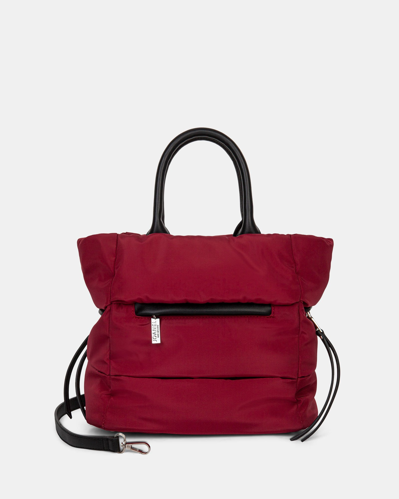 Hi Cloud - Tote bag with Main zippered compartment - Bordeaux - Joanel - Zoom