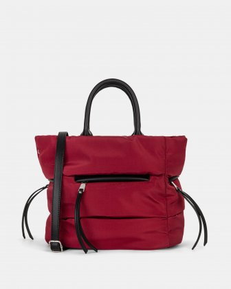 Hi Cloud - Tote bag with Main zippered compartment - Bordeaux - Joanel